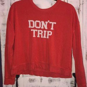 Salmon cropped sweatshirt